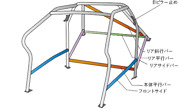 Okuyama Dash Roll Cage Steel 13p For Toyota Vitz Ncp131 752-051-0
