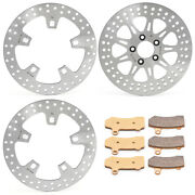 11.8 Front Rear Brake Rotors Pads Road King Ultra Classic Electra Glide 14-20
