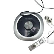 Kenwood Dpc-x537 Walkman Cd-r-rw Player And Phillips Earbuds Outstanding Sound