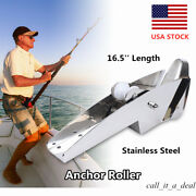 16.5and039and039 Marine Boat Roller Stainless Hinged Self-launching Bow Anchor Roller New
