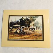 Jack C. Deloney Print Approx 8x6 Matted Signed By Artist Sealed In Plastic