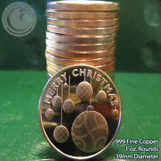 20 Ornaments And 20 Easter Bunny 1oz .999 Copper 20 Beautiful Rounds