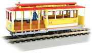 Bachmann 60538 Ho Scale Yellow And Red Cable Car With Grip Man Powell And Mason Sts.