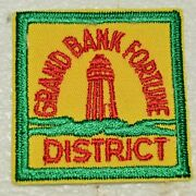 Grand Bank Fortune District Cut Edge Square Boy Scout Badge Canadian Nlg2a