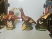 Vintage Wild Turkey Austin Nichols Lot Of 3 Decanters Limited Edition 3, 4 And 6