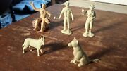 Marx 1950s Roy Rogers Family Lot Western Ranch Rodeo Plastic Figures