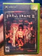 Fatal Frame Ii The Crimson Butterfly Microsoft Xbox, 2004 - Tested, No Manual