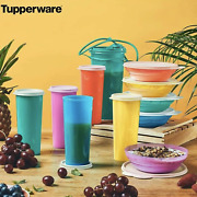 Tupperware Classic 11 Pc Breakfast Collection Cereal Bowls Tumblers Pitcher New