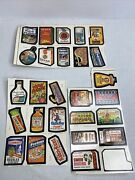 1979 Topps Chewing Gum Wacky Packages Stickers 3 Partial Uncut Sheets 27 Total