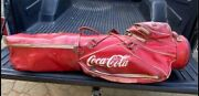 Rare Vintage Coca Cola Golf Bag With Full Set Of Clubs