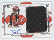2020 National Treasures Rookie Autograph Jersey Tee Higgins Rc Auto 56/99