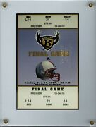 1997 Ravens Final Game Memorial Stadium Embossed Ticket Signed By Legendary Qb
