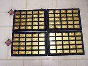 Jane Medallic World Great Airplanes Franklin Mint 100 24k Gold Plated On Bronze