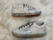 Golden Goose Superstar White Red Leather Sneakers Athletic Ggdb Shoes 38 8