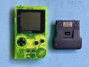 Nintendo Game Boy Pocket Extreme Green Tested Works Includes Nuby Snap Nandrsquo Power