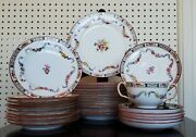 Old Stamp Set 29 Pc Mintons Rose Antique China Set A4807 Dinnerware Plates