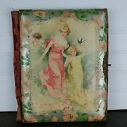 Vintage Cabinet Card Album Cover Only, Junk Journaling Cover, Victorian Style