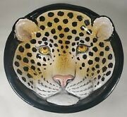 Vintage Leopard 3d Bowl Made In Italy Leopard Italian Bowl Red Clay Bowl