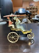 Vintage Lehmann Marke New Century Cycle Tin Litho Wind-up Toy Working