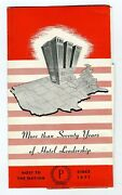 Palmer House Hotel Pop Up Brochure Chicago Illinois 1940's