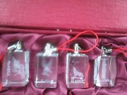 4 Holographic Engraved/etched Glass Alaska Ornaments With Box
