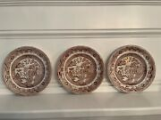 Antique Warranted Staffordshire J.m And S. John Meir And Son Collectible Plates1800s