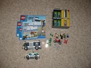 Complete Lego City 3661 Bank And Money Transfer W/manuals