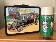 Vintage The Munsters Lunchbox And Thermos