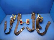 92-97 Lexus Sc300 Sc400 Oem Front And Rear Seat Belts Set Stock Factory Brown
