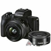Canon Eos M50 Mark Ii Mirrorless Camera With 15-45mm Lens + Ef-m 22mm Stm Lens