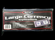 125 Bcw Large Size Currency Bill Rigid Toploaders Holders New In Stock