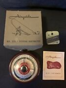 Vintage Early Airguide 225 Fishing Barometer Rare Excellent Original