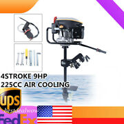 4 Stroke Outboard 225cc Motor 9hp Boat Engine W/air Cooling System Cdi Us Stock