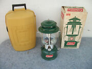 Vintage Coleman Camp Lantern 220f In Box And Clam Case 2