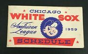 1959 Chicago White Sox American League Pocket Schedule World Series Year