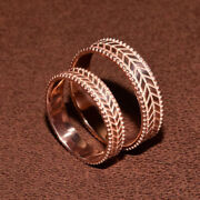 Sale Couple Band Solid 14k Rose Gold Plain Ring For Unisex All Size Available
