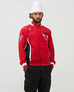 Mitchell And Ness Nba Authentic Chicago Bulls 1996-97 Warm Up Jacket Menand039s Red Top