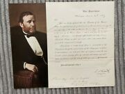 Ulysses S. Grant Signed Document As Secretary Of War Civil Rights 1867