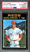 1971 Topps 688 Sparky Anderson Autograph Psa/dna 9 52288964