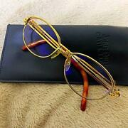 Rare Vintage Jean Paul Gaultier Sunglass Eyeglass Gold Flame Pre-owned W/case