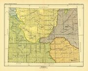 1896 Map Wyoming 1 United States Indian Land Cessions Poster 66