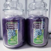 Yankee Candle Vineyard Lot Of Two Large 22 Oz.