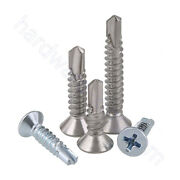 Phillips Flat Head Screws M4.2 M4.8 Self Tapping Bolts Stainless / Carbon Steel
