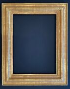 5 3/8 Wide - 23 X 31 Solid Wood Hand Carved Picture Frame Gilded In Gold