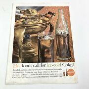 1962 Coca Cola Magazine Print Ad Walkers Deluxe Whiskey Opposite Page Vintage