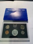 1969-s San Francisco Mint Proof Sets With 40 Silver Kennedy Half Dollar