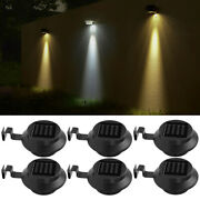 Led Solar Gutter Lights Wall Light 3led Outdoor Garden Yard Pathway Fence Lamps