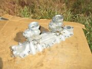 Fenton 2x2 Ford Flathead Intake Manifold Dual Carb With Holley Ford 94's