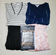 All New Womens Clothes, Skirts, Tops, Masks W/ Tags 5 Piece Size Xl16/18 Lot