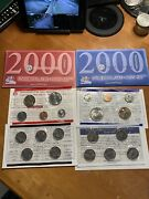 Us 2000 Us Mint Set Pandd Uncirculated Coin Set 18 Coin-